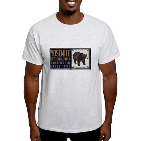 Yosemite Black Bear Badge Light T-Shirt