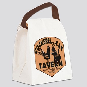 Cockerel N Cat Tavern Canvas Lunch Bag