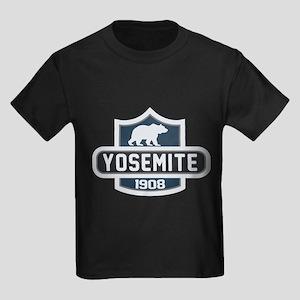 Yosemite Blue Nature Crest Kids Dark T-Shirt