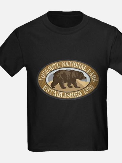 Yosemite Brown Bear Badge T