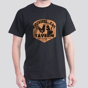 Cockerel N Cat Tavern Dark T-Shirt