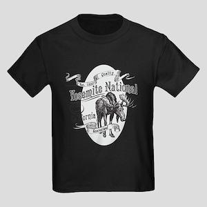 Yosemite Vintage Moose Kids Dark T-Shirt