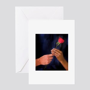Interracial greeting cards cafepress the rose exchange greeting card m4hsunfo