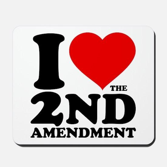 I Heart the 2nd Amendment Mousepad