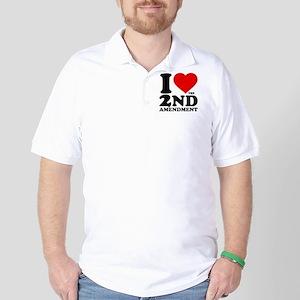 I Heart the 2nd Amendment Golf Shirt