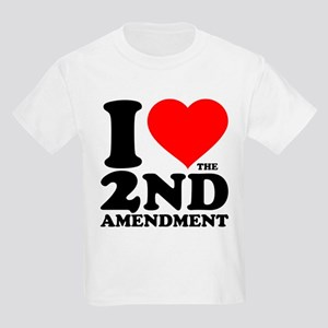 I Heart the 2nd Amendment Kids Light T-Shirt