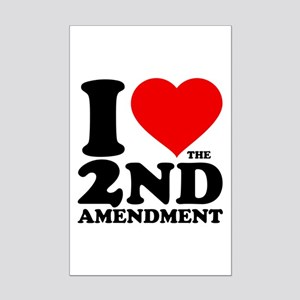I Heart the 2nd Amendment Mini Poster Print