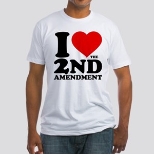 I Heart the 2nd Amendment Fitted T-Shirt