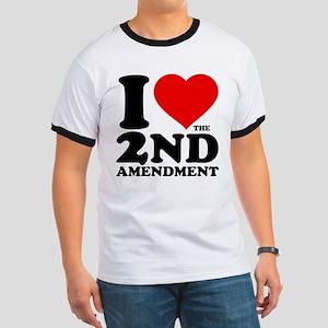 I Heart the 2nd Amendment Ringer T-Shirt