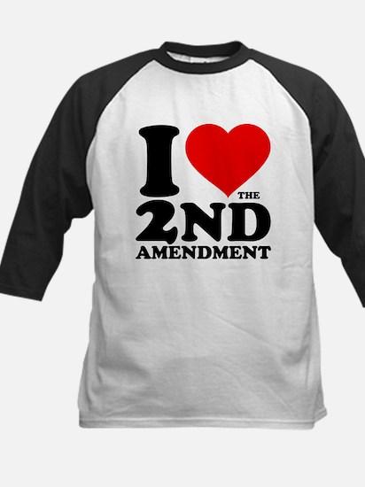 I Heart the 2nd Amendment Kids Baseball Jersey