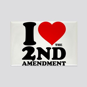 I Heart the 2nd Amendment Rectangle Magnet