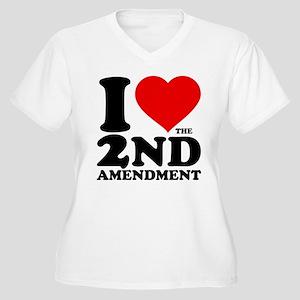 I Heart the 2nd Amendment Women's Plus Size V-Neck