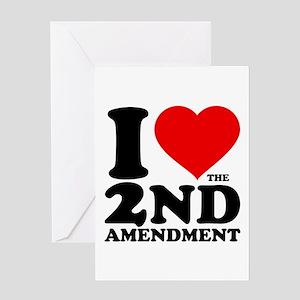 I Heart the 2nd Amendment Greeting Card