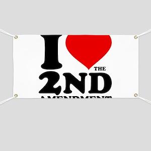 I Heart the 2nd Amendment Banner