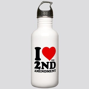I Heart the 2nd Amendment Stainless Water Bottle 1