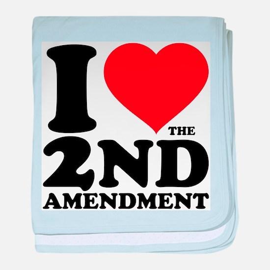 I Heart the 2nd Amendment Infant Blanket