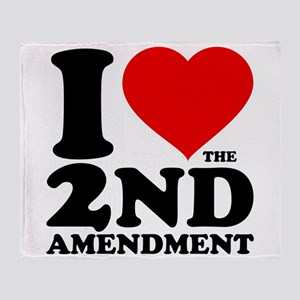 I Heart the 2nd Amendment Throw Blanket