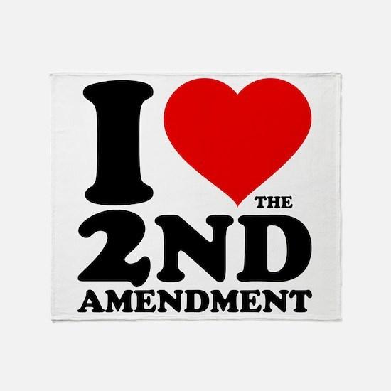 I Heart the 2nd Amendment Throw Blanket