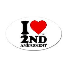 I Heart the 2nd Amendment 22x14 Oval Wall Peel