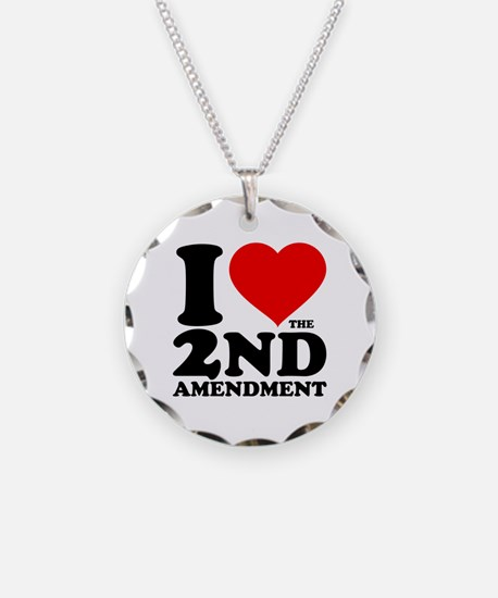I Heart the 2nd Amendment Necklace
