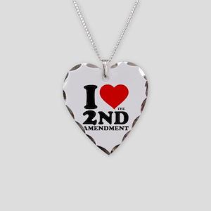 I Heart the 2nd Amendment Necklace Heart Charm