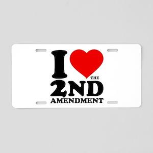 I Heart the 2nd Amendment Aluminum License Plate