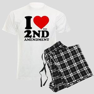 I Heart the 2nd Amendment Men's Light Pajamas