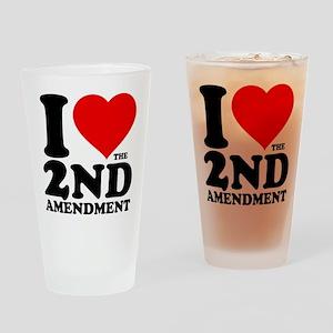 I Heart the 2nd Amendment Drinking Glass