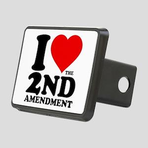 I Heart the 2nd Amendment Rectangular Hitch Cover