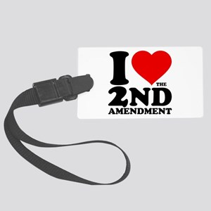 I Heart the 2nd Amendment Large Luggage Tag
