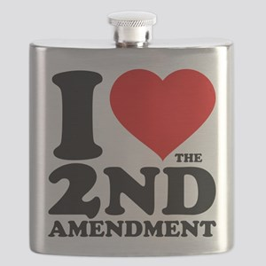 I Heart the 2nd Amendment Flask