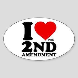 I Heart the 2nd Amendment Oval Sticker