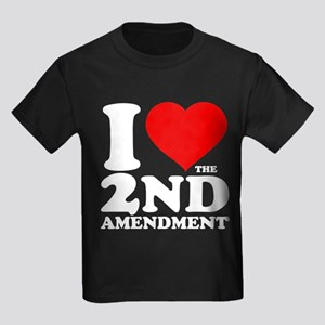 I Heart the 2nd Amendment Kids Dark T-Shirt
