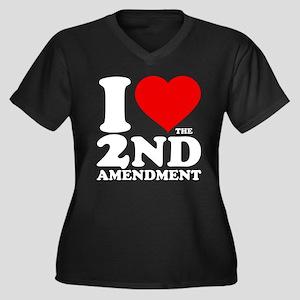 I Heart the 2nd Amendment Women's Dark Plus Size V