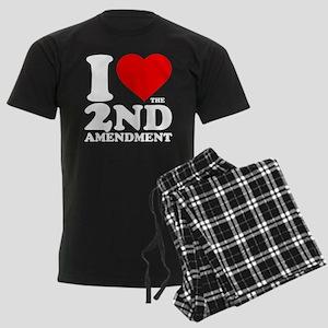 I Heart the 2nd Amendment Men's Dark Pajamas