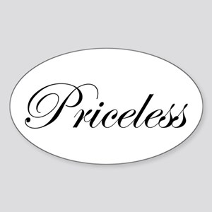 PRICELESS Oval Sticker