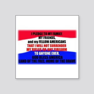 "Second Amendment Pledge Square Sticker 3"" x 3"