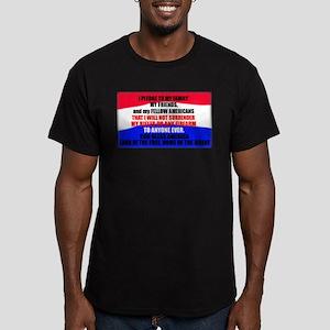 Second Amendment Pledge Men's Fitted T-Shirt (dark