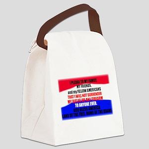 Second Amendment Pledge Canvas Lunch Bag