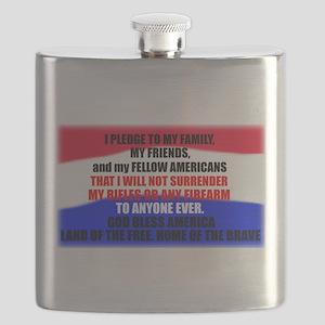 Second Amendment Pledge Flask
