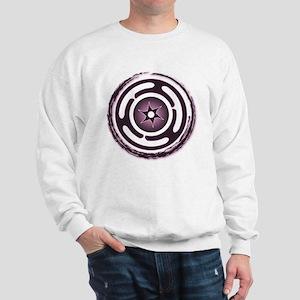 Purple Hecate's Wheel Sweatshirt