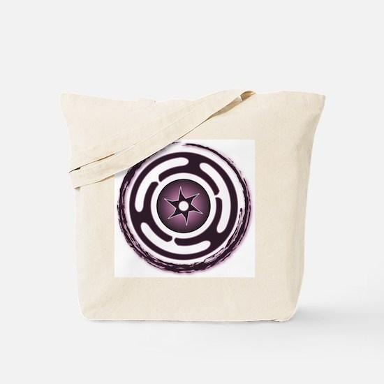 Purple Hecate's Wheel Tote Bag