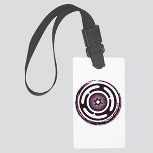 Purple Hecate's Wheel Large Luggage Tag