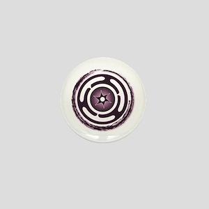 Purple Hecate's Wheel Mini Button