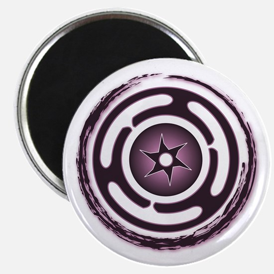 Purple Hecate's Wheel Magnet