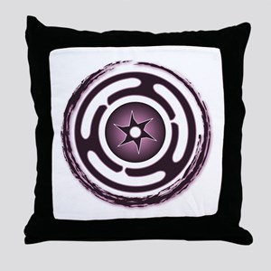 Purple Hecate's Wheel Throw Pillow