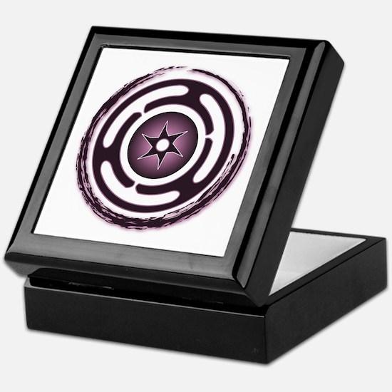 Purple Hecate's Wheel Keepsake Box