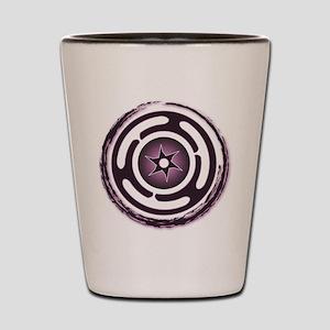 Purple Hecate's Wheel Shot Glass