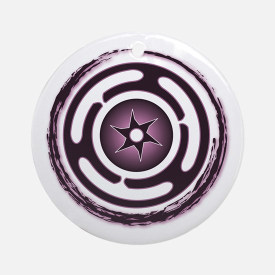 Purple Hecate's Wheel Ornament (Round)
