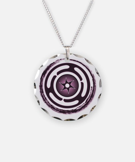Purple Hecate's Wheel Necklace